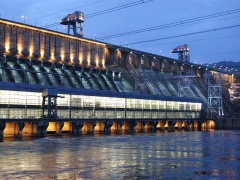Receive-transmit complex of control information of automatic load-frequency control system of Boguchanskaya HPP